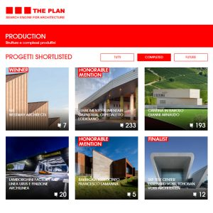THE PLAN SHORTLISTED premiati 2